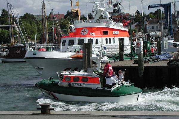 alter Hafen Laboe Seenotretter