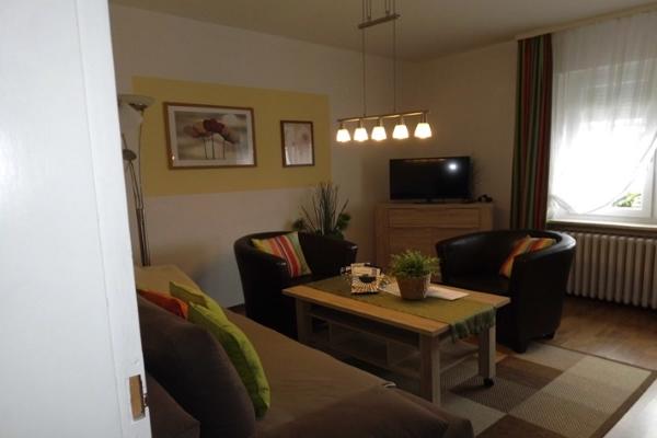 Wohnzimmer mit Sitzecke der Unterkunft